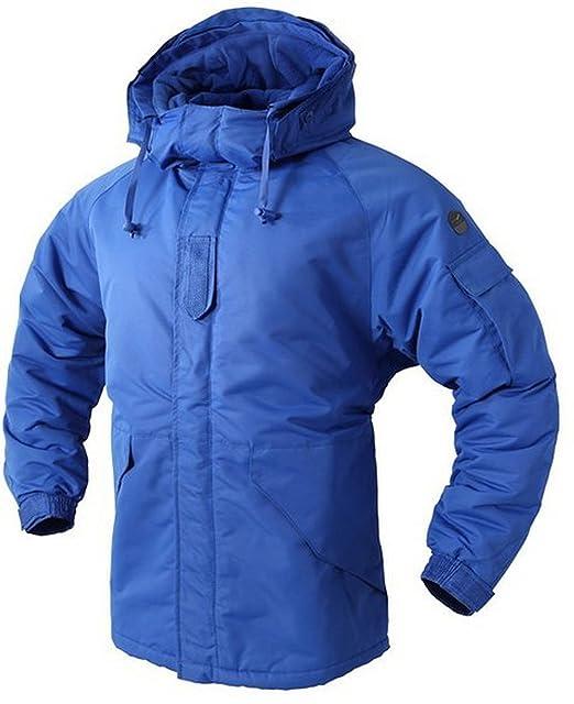 Southplay Chaqueta y pantalón de esquí-snowboard de diseño militar impermeable para hombre-Azul