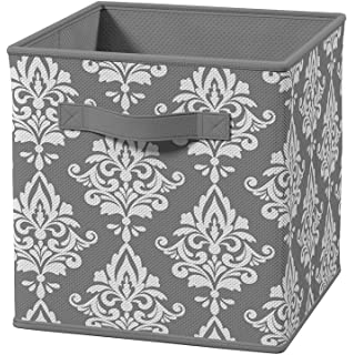ClosetMaid 3254 Cubeicals Fabric Drawer, Gray Damask