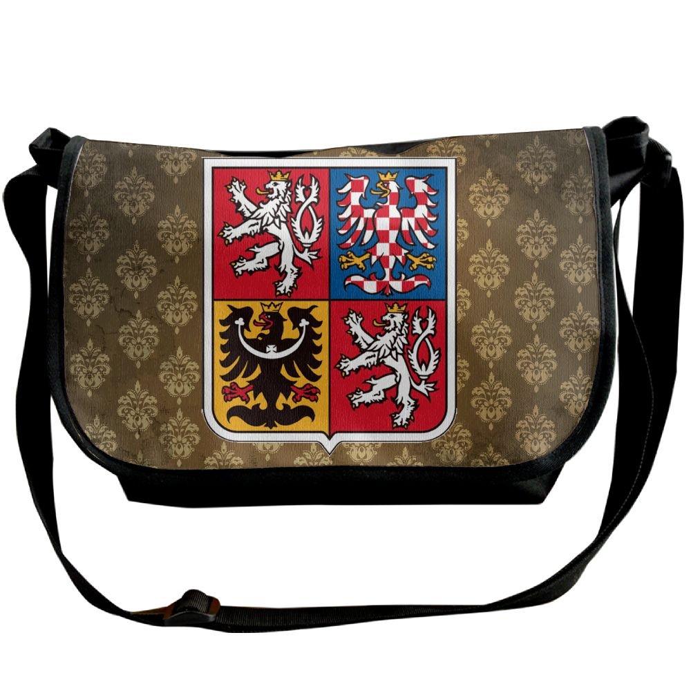 Lov6eoorheeb Unisex Coat Of Arms Of Czech Republic Wide Diagonal Shoulder Bag Adjustable Shoulder Tote Bag Single Shoulder Backpack For Work,School,Daily