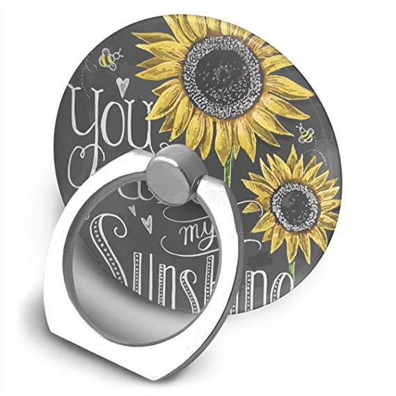 Amazon Com Phone Ring Stand You Are My Sunshine Sunflower