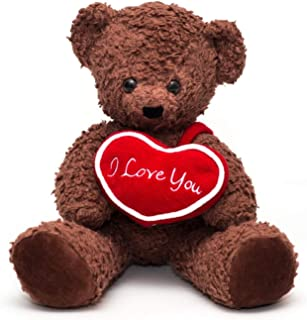 """product image for Bears For Humanity 16"""" I Love You Bear, Brown"""