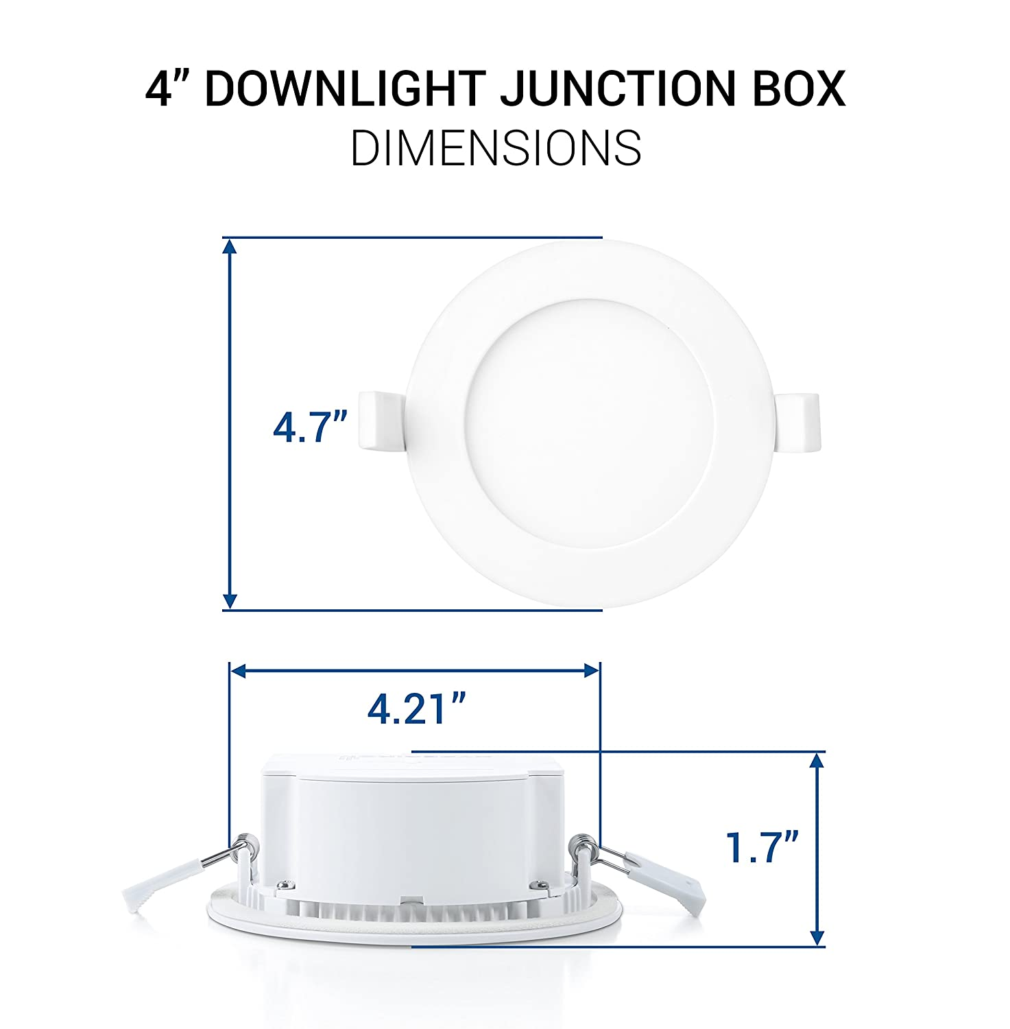 Hyperikon 4 recessed led downlight with junction box dimmable 85 hyperikon 4 recessed led downlight with junction box dimmable 85w 60w equivalent slim retrofit airtight downlight 4000k daylight glow cheapraybanclubmaster Image collections