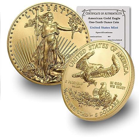 2020 1//10 oz Gold American Eagle $5 NGC MS70 FDI Black Core Gold Foil SKU59554