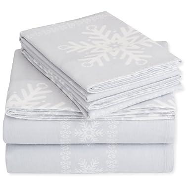 Pinzon Flannel Sheet Set – King, Snowflake Grey
