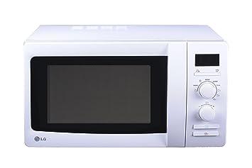 LG - Microondas Mh6339H, 23L, 800W, Grill Simultaneo, Blanco, Reloj Digital