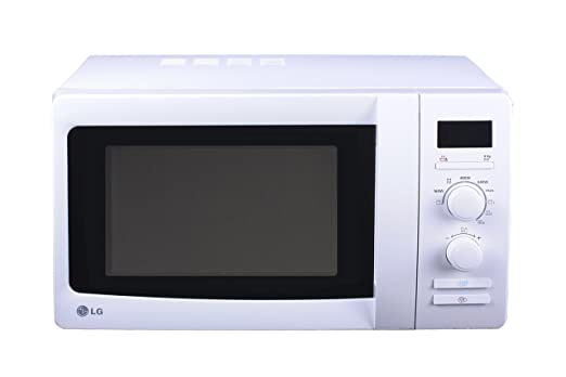 LG - Microondas Mh6339H, 23L, 800W, Grill Simultaneo, Blanco, Reloj Digital, Analogico (48.5 x 28 x 38.5 cm)