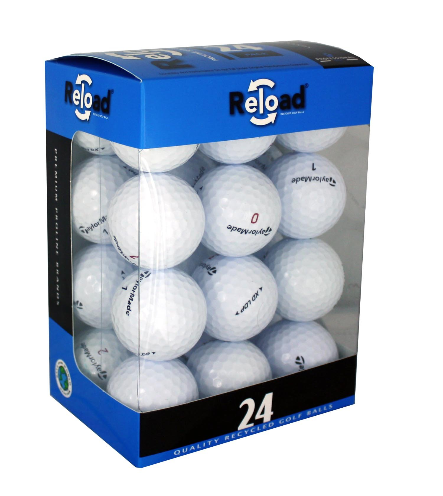 Reload Recycled Golf Balls (24-Pack) of Taylormade Golf Balls
