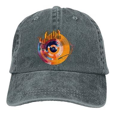 Arsmt Music Vinyl Record DJ City Denim Hat Adjustable Women