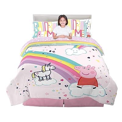 Franco Kids Bedding Super Soft Comforter and Sheet Set, 5 Piece Full Size, Peppa Pig: Home & Kitchen