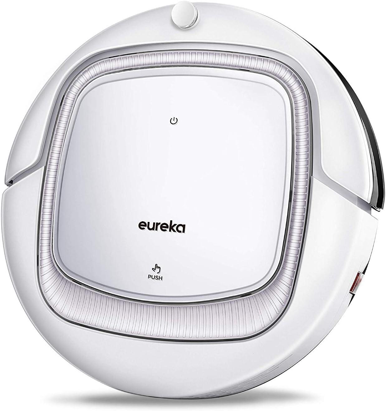 EUREKA i300 Robot Aspirador con Alta Succión, Suelos Duros y Alfombras Finas, Atrapar Pelo de Mascota, Sensores de Anticaída y Anti-Golpe, Control Remoto, Auto-Carga, Programable: Amazon.es: Hogar