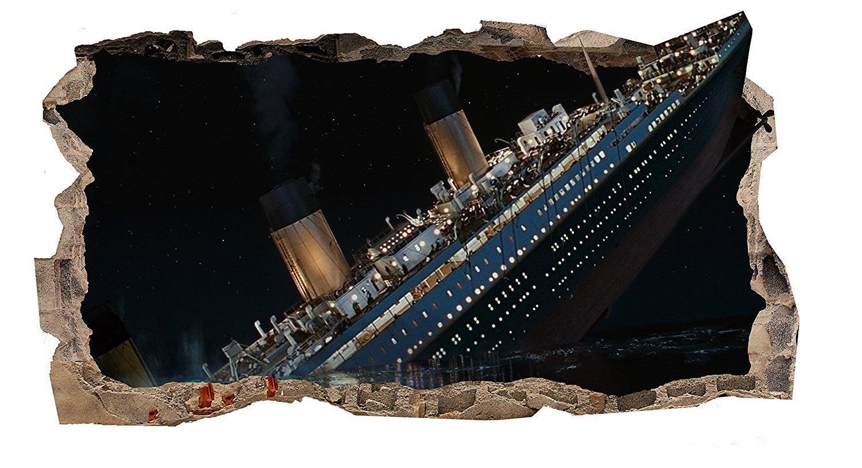 Startonight 3D Tapete Titanic, Wandmalerei Bild an der Wand Großformat Modern Muster Dekorative Kunst Wand 82 x 150 cm