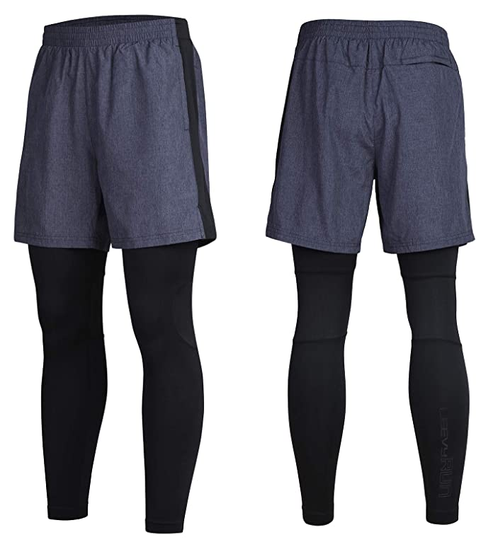 7951df1e00584 Amazon.com: Leevy Basketball Shorts 2 in 1 Lightweight Running Leggings for  Youth Boys&Men Dry Fit Tights Pants with Pockets: Clothing