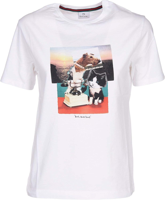 Paul Smith Luxury Fashion Mujer W2RG799AP091101 Blanco T-Shirt   Temporada Outlet: Amazon.es: Ropa y accesorios