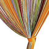 Edal Colorful Window Fringe Wall Panel Room Divider Strip Tassel Line String Curtain