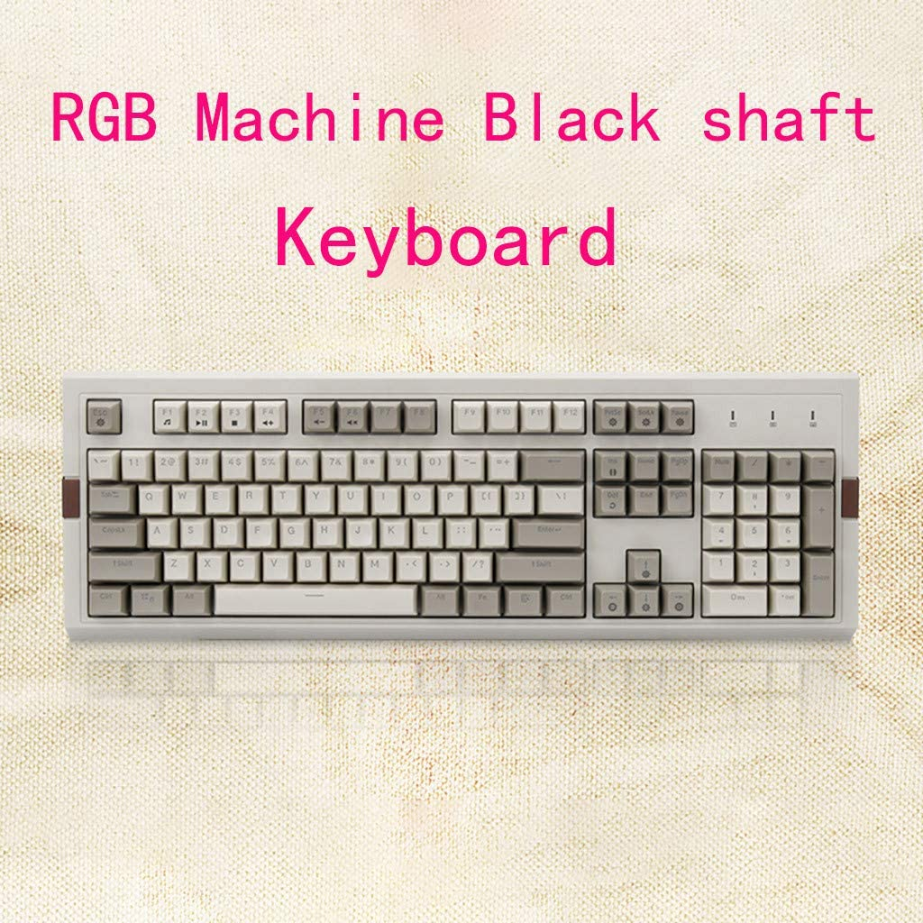 NEW Console Game Online Game Best Matched Keyboard BB67 USB Wired Gaming Retro Mechanical Keyboard RGB Backlight 104Keyse
