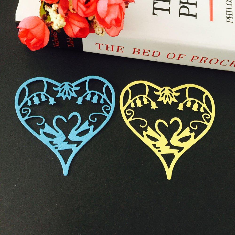 Plantillas de metal con diseño de flores y corazones, de Veyikdg, ღD, talla única: Amazon.es: Hogar