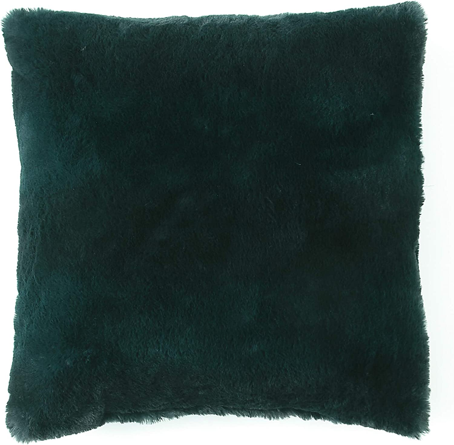Morgan Home Fashions Decorative Faux Fur Throw Pillow Cushion Covers- 18 x 18 inches, Soft, Cozy and Warm, Home Decor with Multiple Colors Available to Match Most Styles and Blankets (Emerald, 1)