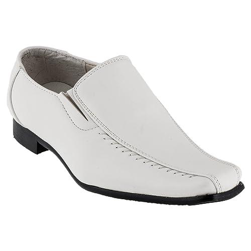 Mikelo - Mocasines de Material Sintético para niño, Color Blanco, Talla 41 EU: Amazon.es: Zapatos y complementos