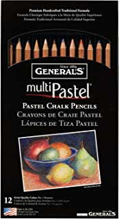 product image for General Pencil 4400-12A Pastel Chalk Pencils, Assorted Colors, 12 Per Pack (Limited Edition)