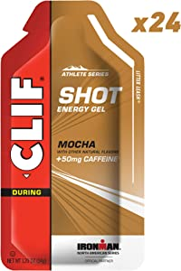 CLIF SHOT - Energy Gels - Mocha Flavor - 50mg Caffeine (1.2 Ounce Packet, 24 Count) (Packaging May Vary)
