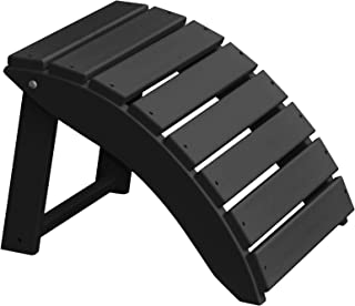product image for Furniture Barn USA Poly Folding Round Ottoman Footrest - Black