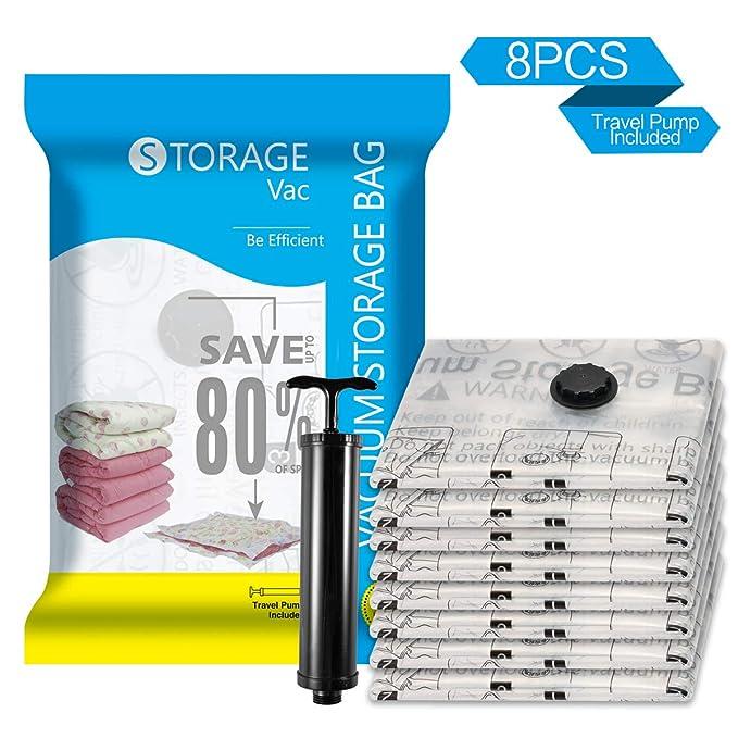 Premium Jumbo Vacuum Storage Bags 8 Pack (40