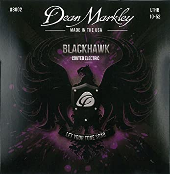 Dean Markley cuerdas para guitarra eléctrica con revestimiento de/Heavy Blackhawk inferior superior de luz 8002 (0,10 - 0,52) 6-strings: Amazon.es: ...