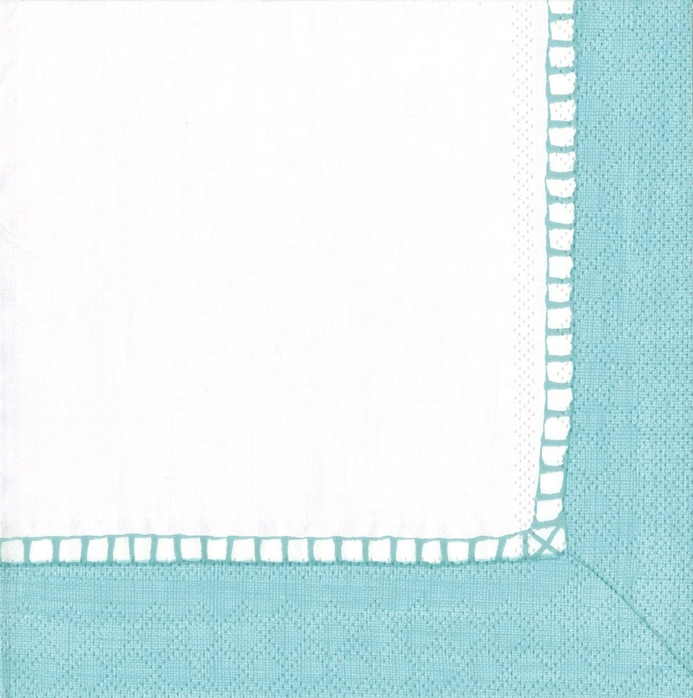 Entertaining with Caspari Linen Robin'S Egg Blue, Luncheon Napkin, Pack of 20 by Entertaining with Caspari