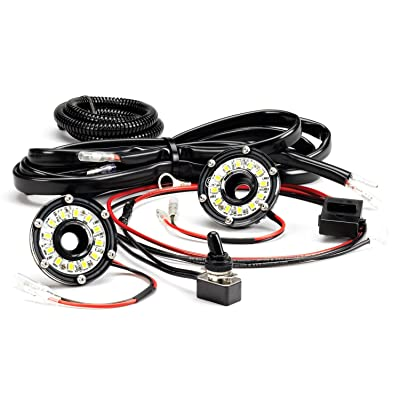 KC HiLiTES 355 Cyclone LED Universal 2-Light Under Hood Wiring Kit: Automotive