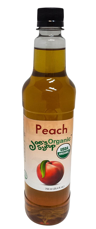 Joe's Syrup Organic Flavored Syrup, Organic Peach, 750 ml