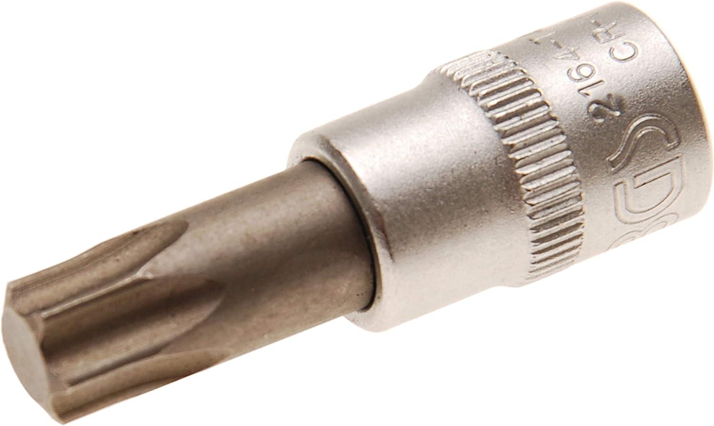6,3 mm 1//4 Bit-Einsatz L/änge 38 mm BGS 2596 CV-Stahl | T-Profil f/ür Torx T40