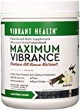 """Vibrant Health - Maximum Vibrance, Plant-Based Meal Replacement Rich with Vitamins Minerals Antioxidants and Protein Gluten Free Vegetarian Non-GMO """" 15 Servings (FFP)"""