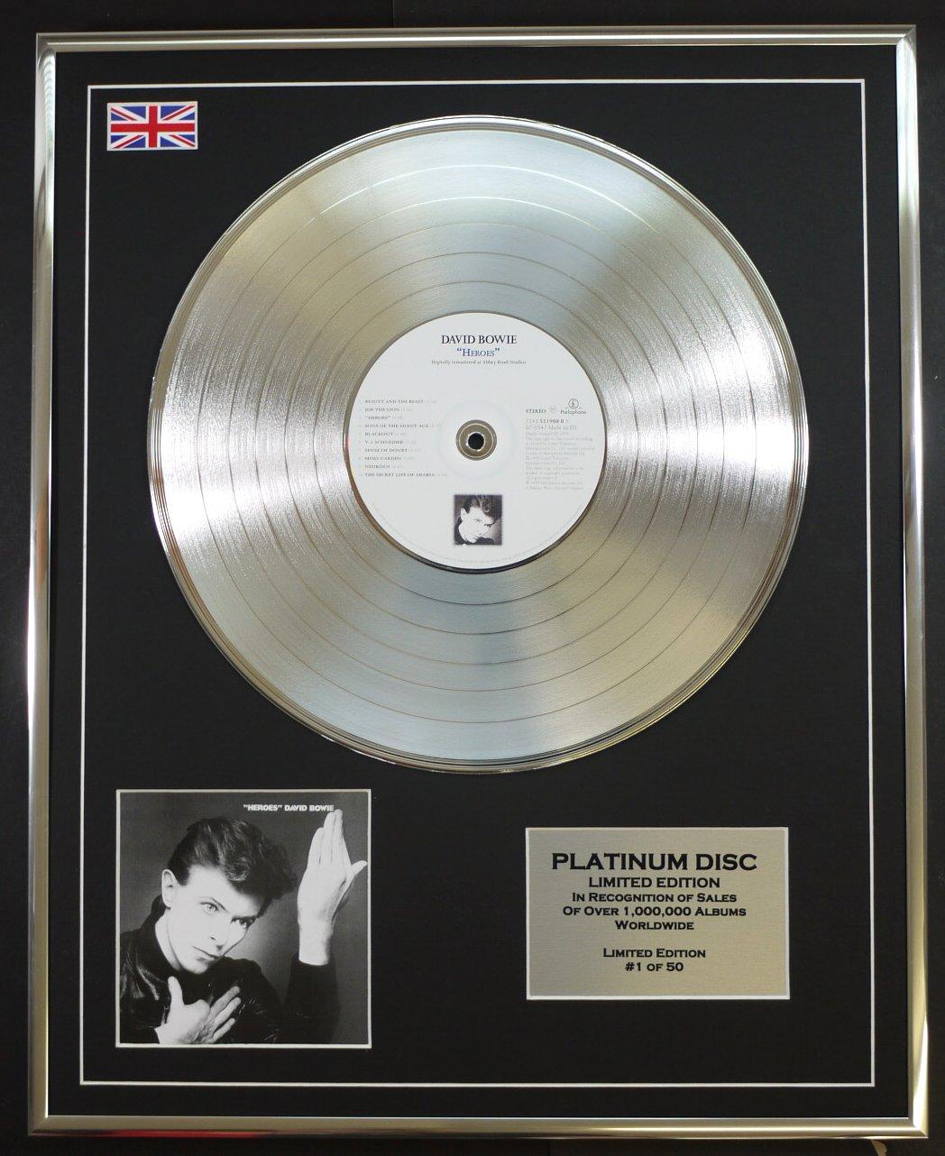 DAVID BOWIE Limitierte Edition Platin Schallplatte HEROES