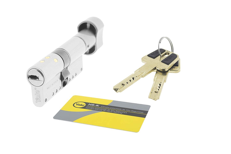 Yale HSKP3030NM4 Cilindro de Alta Seguridad HSK, Niquelado 30 X 30 Mm: Amazon.es: Bricolaje y herramientas