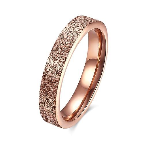 sanjiu joyas de boda para mujer compromiso anillos redondo acero inoxidable Anillo simple estilo promesa aniversario