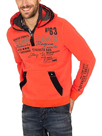 latest design many styles various colors Camp David Light red Sweatshirt with Hood CCG-1810-3824
