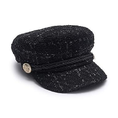 Women Newsboy Caps Cotton Burgundy Flat Captain Hats Designer Autumn Baker  Boy Black 6fb0d7dc8e3