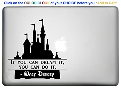 Amazoncom Walt Disney World Castle Quote Sticker Decal Is A Famous