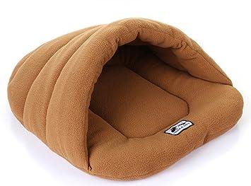 Icegrey Cama para Perro y Gatos Acolchada Casa Mascotas Cama Saco de Dormir Cojin Cálido para Cachorro Perrito Gato Camello 58x68cm: Amazon.es: Hogar