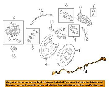 Amazon.com: Ford AV6Z-2C055-C, ABS Wheel Sd Sensor Wire ... on