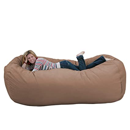 Fabulous Cozy Sack 8 Feet Bean Bag Chair X Large Buckskin Uwap Interior Chair Design Uwaporg
