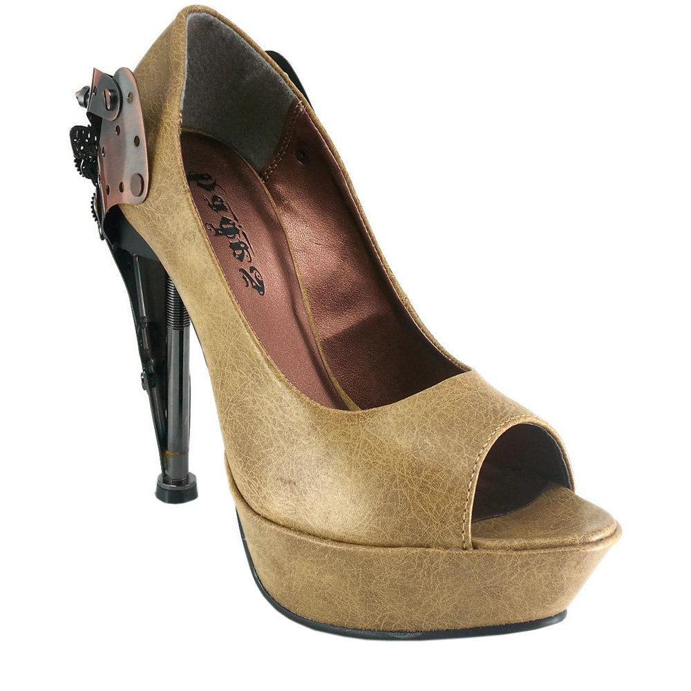 Hades Shoes Taunt Gold Wedge Heel Accented with Metal Eyelets B00DGQOWAY 5.5|Burgundy Burgundy 5.5