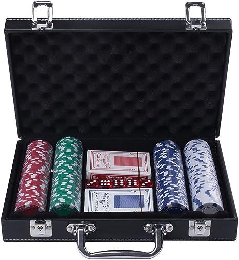 runnow fichas de poker 200 Casino Poker Chip Set 11,5 gramos 5 dados con 2 Baraja de naipes en funda de piel: Amazon.es: Deportes y aire libre