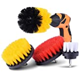 KINCREA 4 Piece Drill Brush Attachment Kit, Drill Brush Power Scrubber Stiff for Cleaning Pool Tile, Flooring, Brick, Ceramic