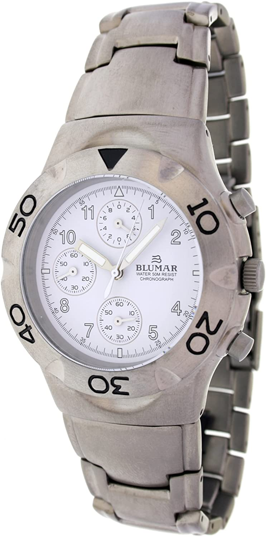 Blumar Vd56 K7509-1 Reloj Analogico para Hombre Caja De Titanio Esfera Color Blanco
