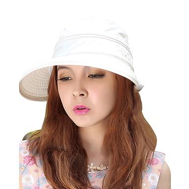 adc39312617e2 Lerben® Womens Casual Wide Brim 2in1 Combined UV Traveler Summer Golf  Tennis Sun Cap  Amazon.co.uk  Clothing