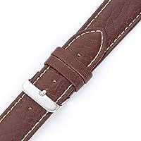 Hadley-Roma Pulseira de relógio masculina de couro genuíno