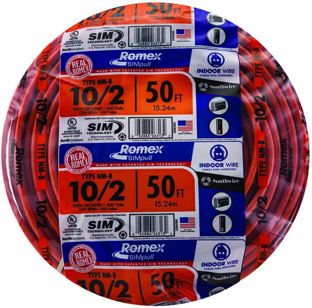 NEW 125/' 10//3 W//GROUND NM-B ROMEX HOUSE WIRE//CABLE