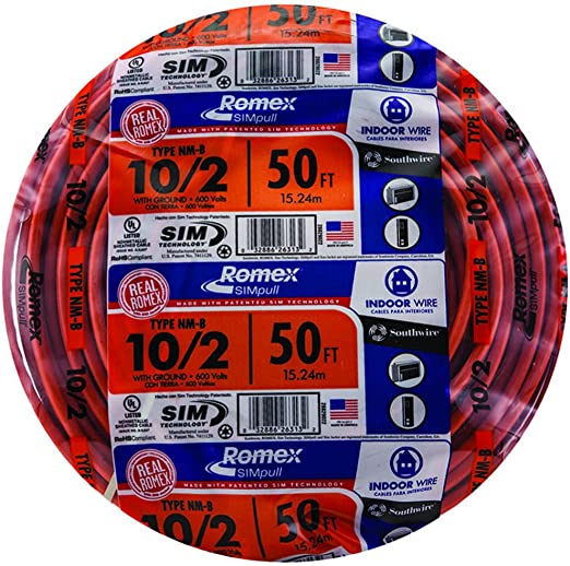 NEW 50/' 6//3 W//GROUND NM-B ROMEX HOUSE WIRE//CABLE