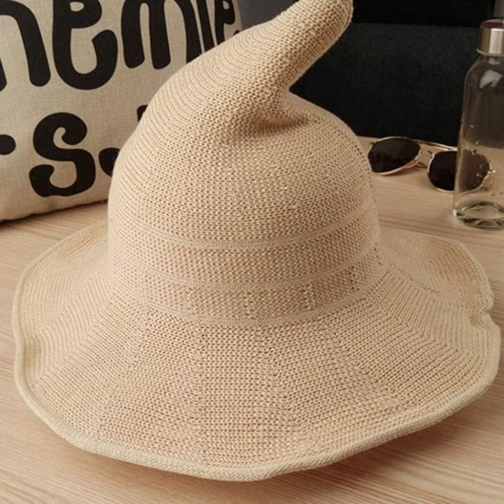 Reooly Sombrero de Cubo de Cuenca Puntiaguda de Bruja de Halloween ...
